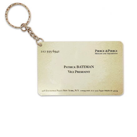Patrick Bateman Business Card Design Keyring Based on American Psycho
